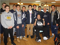Northport Football Team Spend Saturday with Veterans photo
