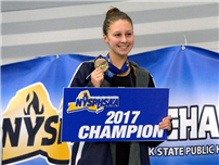 Varsity Swimmer Chloe Stepanek Wins Two State Titles photo